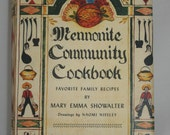 Mennonite Community Cookbook Hardcover with Dust Jacket Vintage Cookbook 1978 Mennonite Recipes Simple Cookery Book with Illustrations