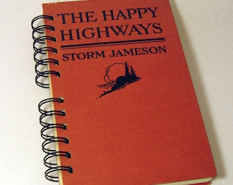 1920 HAPPY HIGHWAYS Handmade Journal Vintage Upcycled Book Travel Journal