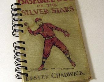 1912 BASEBALL JOE Handmade Journal Vintage Upcycled Book Vintage Baseball