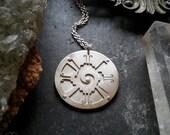 Hunab Ku Pendant - Handcut sterling silver - Handcrafted Sacred Geometry Jewellery