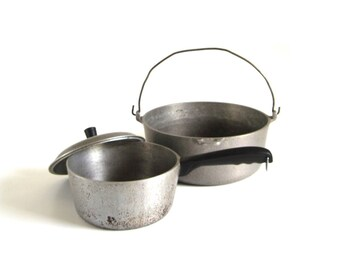 Club Hammercraft Pot Pan Stockpot 5 Qt Bail Handle Hammered Aluminum Food Photography Prop Cookware Pots Pans Stockpots