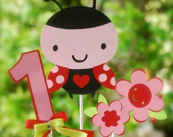 3 Piece Lady Bug Birthday Party Centerpiece /Lady Bug Theme