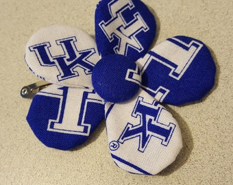 UK Wildcats Hair Flower (clip)