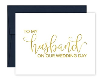 To My Husband on our Wedding Day Cards - Wedding Card - Day of Wedding Cards - To My Husband Wedding Card - Husband Wedding Card (CH-TET)
