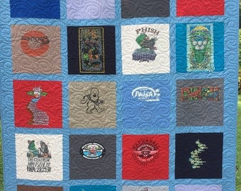 DEPOSIT for T-Shirt Quilt, 16 shirt, TShirt Quilt, Traditional Block Style , UpCycled Quilt (DEPOSIT)