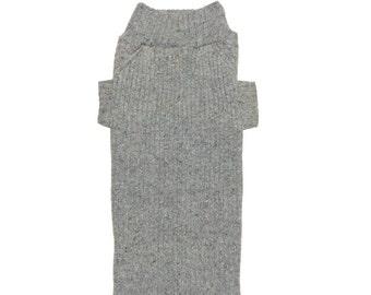 Big Dog Clothes, Super Soft Gray Angora Blend Christmas Winter, Designer Dog Sweater, Handmade Pet Puppy Apparel Clothes Boutique 0196