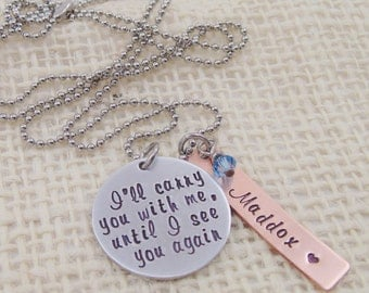 Personalized Hand Stamped Jewelry - Personalized Mom Necklace - Remembrance Necklace