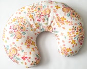 Nursing Pillow Cover Bright Spring Floral- Nursing Pillow Cover - Floral Boppy Cover - Boppy Pillow Case - Boppy Slip Cover - Girl Boppy