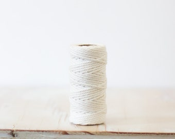Solid White Premium Baker's Twine - 20 yards