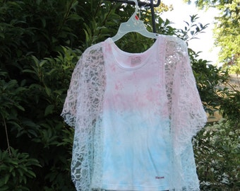 Sale Bohemian Top .  Upcycled Clothing / Boho Lace Top . Hippie Top . Upcycled Top . By Intrigues