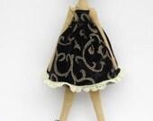 Cloth doll ballerina princess fabric doll cute Tilda stuffed doll art doll brunette softie plush doll toy - gift for girls