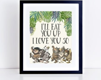 Where the Wild Things Are Birthday Party Printables- Wild Rumpus, Max (8x10 signs)