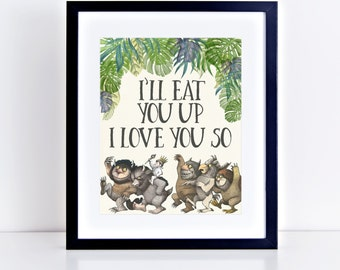 Where the Wild Things Are Birthday Party Prints- Wild Rumpus, Max (8x10 signs)