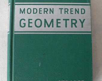 vintage textbook, Modern Trend Geometry, 1940, from Diz Has Neat Stuff