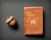 Shakespeare miniature book, leather book, Kin Henry IV PART I