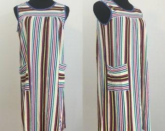 Sand & Summer // Late 60s Beach Pool Coverup Dress Housedress Swimwear