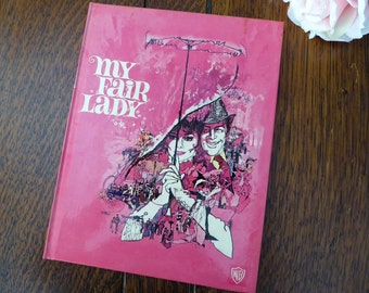 Warner Bros. My Fair Lady Book, Audrey Hepburn and Rex Harrison 1964 Hardcover, The Making of My Fair Lady, Color Photos