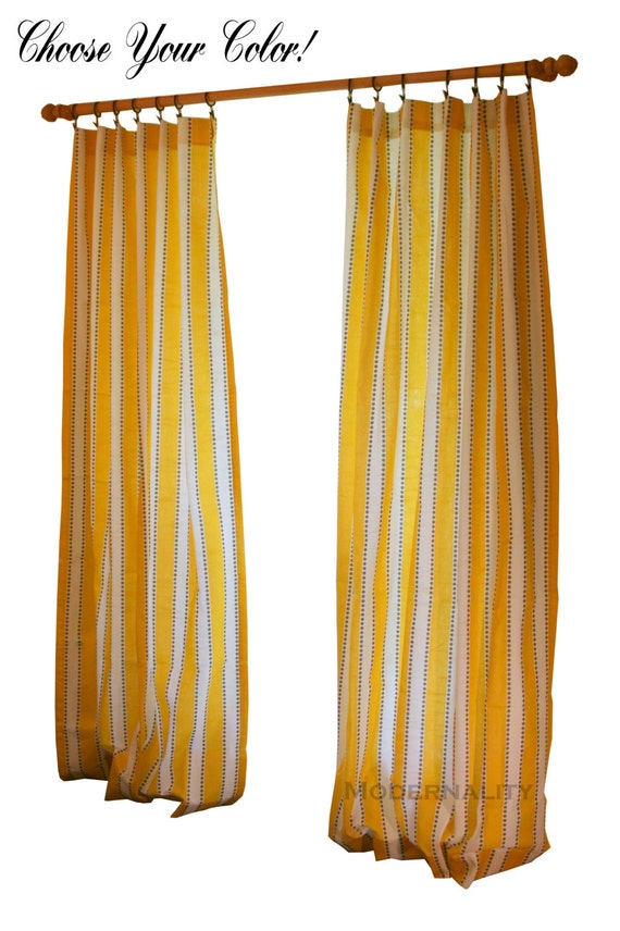 Striped curtains pair of drapery panels premier prints lulu curtains