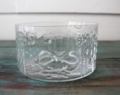 Arabia Finland Flora Bowl, Oiva Toikka Designer, Nuutajarvi, Arabia Art Glass, Midcentury