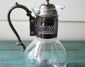 Silver Coffee Carafe with Warmer, Vintage Carafe, Silver Plated