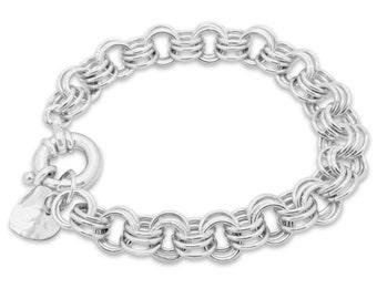 Sterling Silver Triple Link Chain Sterling Silver Bracelet