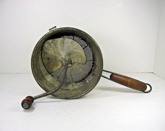 Vintage FOLEY FOOD MiLL Rustic GALVANIZED Masher Strainer Grinder Circa 1930s
