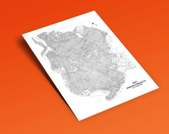 "Vintage Brooklyn Map, Brooklyn Art, Brooklyn Wall Art, Brooklyn Print, 16 x 20"" & 24 x 30"""