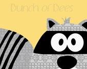 "Nursery / Kids Prints - Woodland.  Raccoon ""Headshot"""