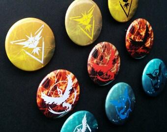 Team Badges   Mystic, Valor, Instinct   Magnets, Keychains, Pinback buttons