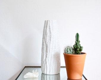 Mid Century Matte White Porcelain Vase by Heinrich West Germany