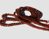 Garnet Microfaceted Rondelles AAA 3-4mm // 8 inch Strand // January Birthstone