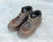 Vintage Dr. Martens Brown Leather Ankle Boots, Made in England, Womens UK 3, US 5
