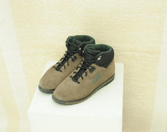 Vintage Coleman Brown Leather Hiking Ankle Boots, Womens 7 1/2