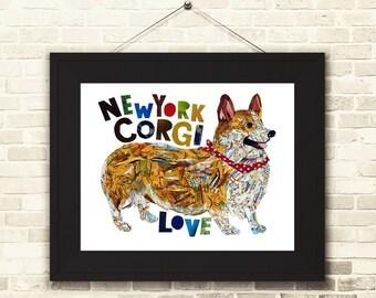 Corgi art-Corgi print -Dog Art-Dog decor-corgi gift-Gift for mom-corgi print-corgi lover-Dog art print-dog gift-corgi Wall Art-Dog decor