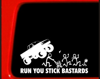 Stick Figure Family Sticker For Jeep Decal Run You Stick