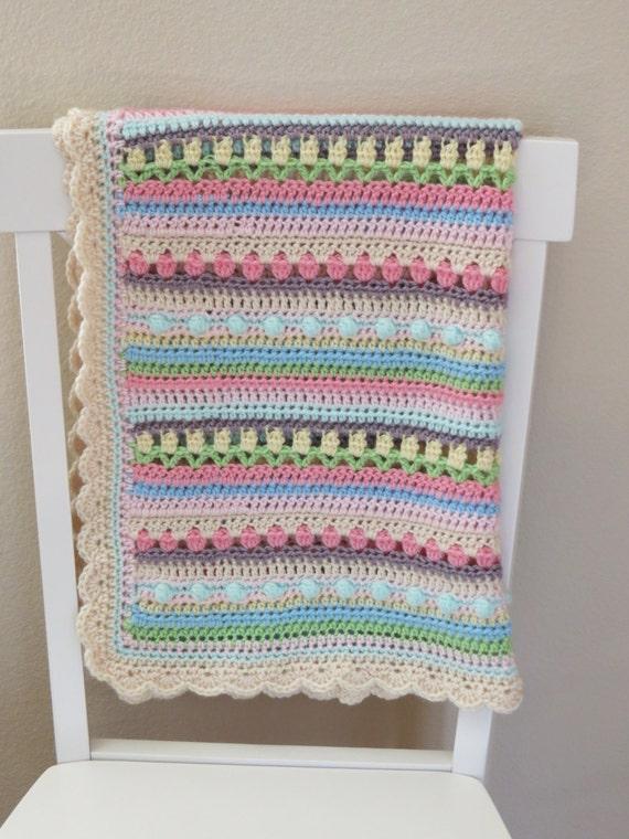 Crochet Baby Blanket Patterns On Etsy : Crochet Baby Blanket Pattern Baby Blanket by ...