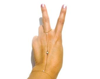 Gold Evil Eye Bracelet - Silver Slave Bracelet - Evil Eye Charm - Swarovski Crystals - Gold Filled, Sterling Silver // Wedding Gift