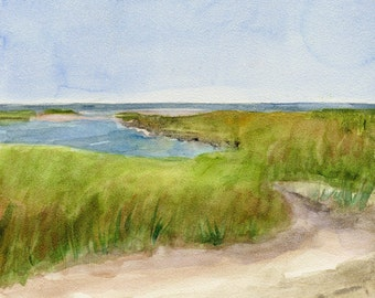 Arriving Change Paines Creek Brewster 8x8 Watercolor on Cradled Board