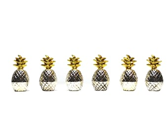 Pineapple Place Card Holders Pineapple Table Number Holders Silver Pineapples Wedding Place Card Holders- Set of 6