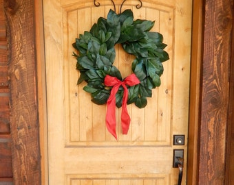 Christmas MAGNOLIA Wreath-Holiday Wreath-Christmas Door Wreath-Outdoor Wreath-All Season Door Wreaths-Housewarming Wreath-Holiday Home Decor