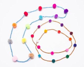 Pompom Necklace/ Ethnic / Hippie/Boho / Tribal/Whole Sale
