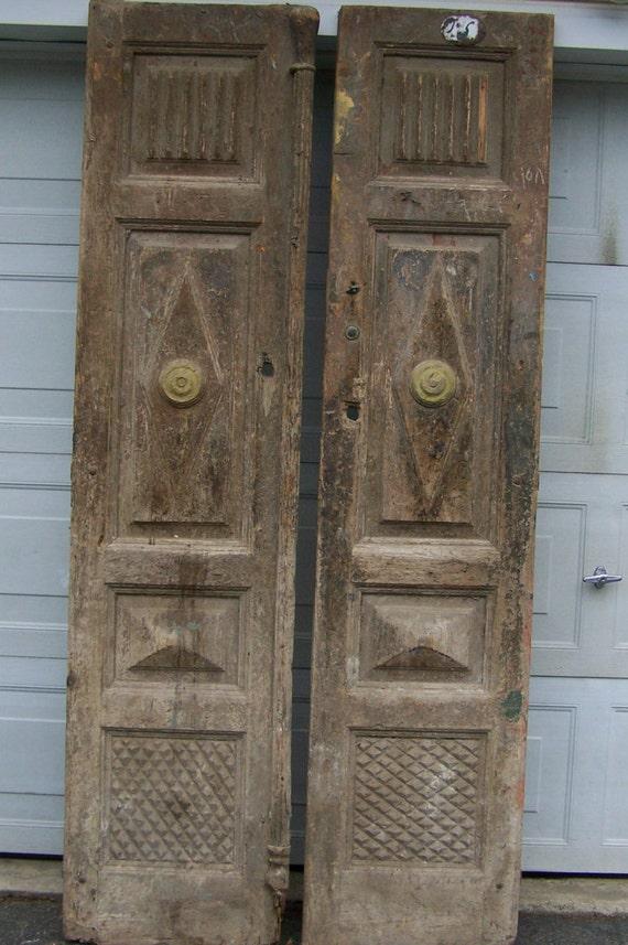 Antique Wood Paneling: Antique Mediterranean Wood Doors With Raised Panels