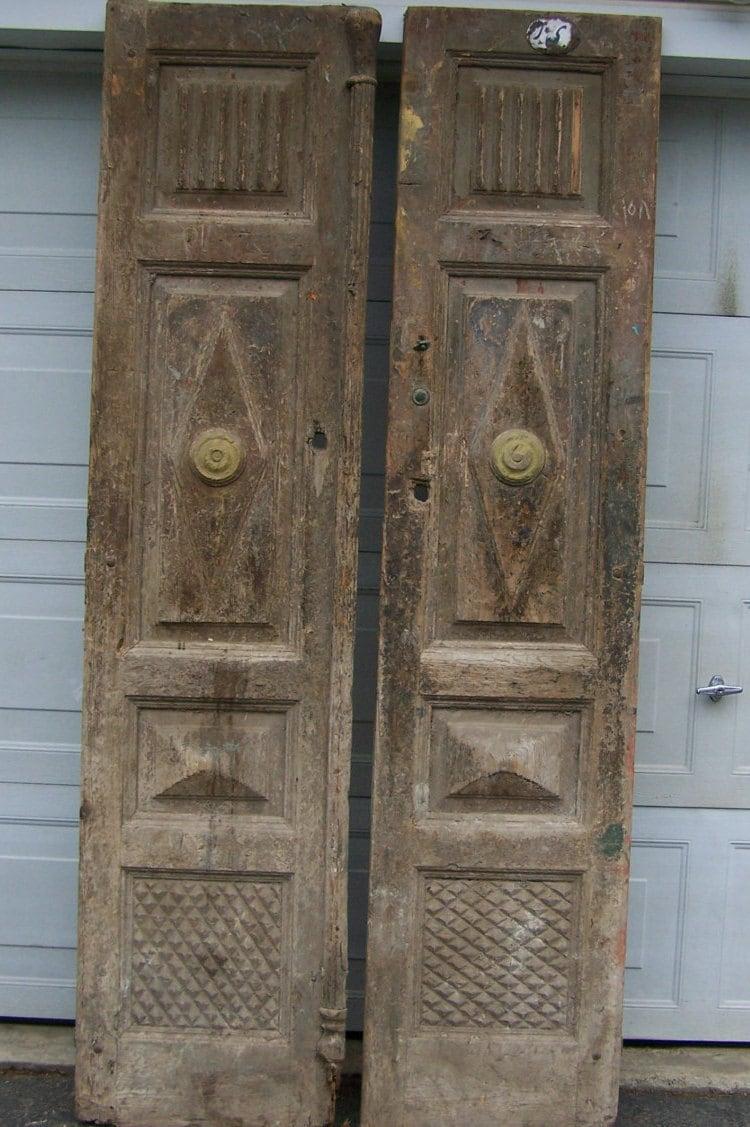 Decorative Wood Doors : Antique mediterranean wood doors with raised panels