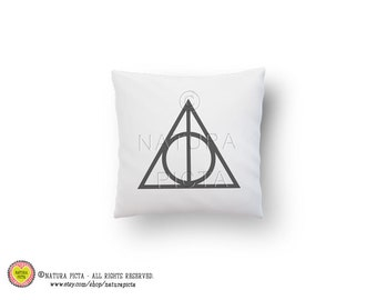 Deathly hallows pillow cover-literary quote pillow case-Potter cover pillow-quote pillow case-custom throw pillow cover-NATURA PICTA NPCP005