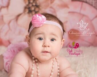 Baby Headband Set - You Pick 2 Rosette's - Newborn Headbands- Baby Girl Headbands - Infant Headband -Baby Hair Accessories - Hairbows