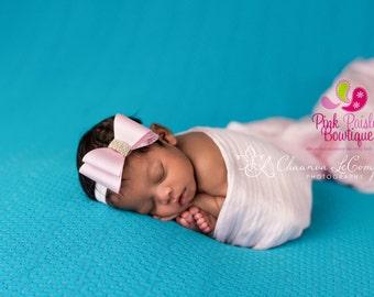 Baby Headband. You Pick 1 Double Bow Baby headband. Girl Headband. Newborn Hair Bows. Baby hair accessories. Baby Hairbows, Baby Girl Bows