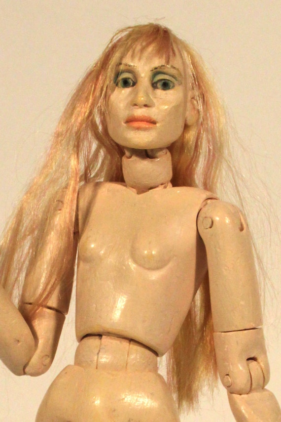 Jointed doll, 1:12th scale doll, twelfth scale, fully articulated, positionable, action figure, 'Lady Godiva' Twelvemo REDUCED PRICE!