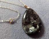 Silver Grey Lavikite Necklace Pendant (38)