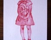 Coeur, gravure sur rhénalon