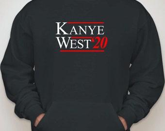 Kanye West Election Campaign 2020 Hoodie - Vote Yeezy Funny Hooded Sweatshirt Kim Kardashian Rihanna Hip Hop Music